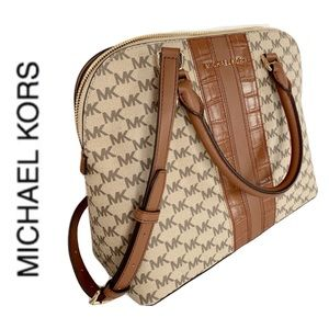 NWT authentic MK Cindy Dome Monogram large satchel